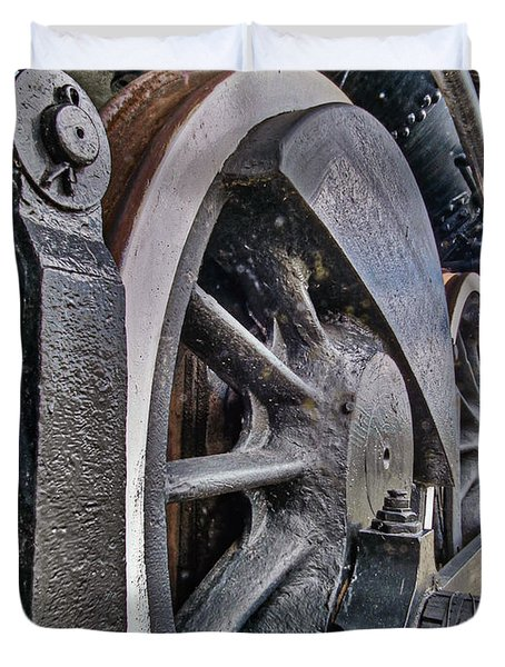 Wheels Of Steel Duvet Cover