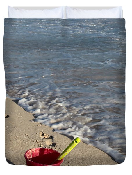 Duvet Cover featuring the photograph When Can We Go To The Beach? by Karen Lee Ensley