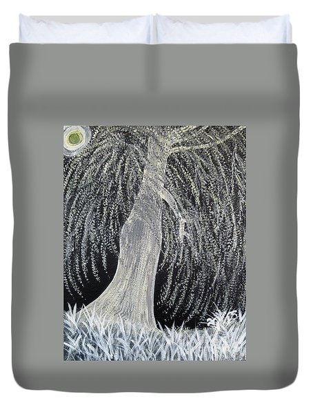 When Willows Weep Duvet Cover