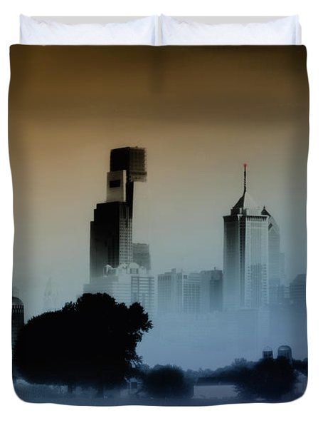 While The City Sleeps Duvet Cover by Bill Cannon