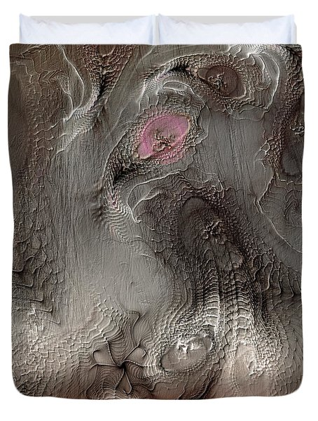 Duvet Cover featuring the digital art Whims Within by Casey Kotas