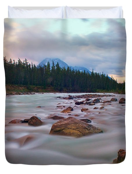 Whirlpool River Duvet Cover by James Steinberg and Photo Researchers