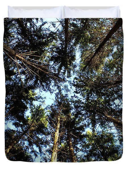Duvet Cover featuring the photograph Whispering Pines by Rachel Cohen