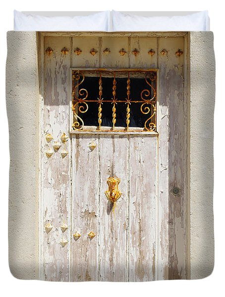 White Door Duvet Cover by Carlos Caetano