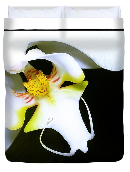 Duvet Cover featuring the photograph White Elegance by Judi Bagwell