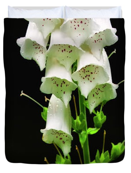 Duvet Cover featuring the photograph White Foxglove by Albert Seger