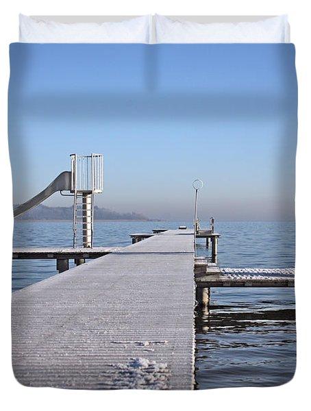 White Frost Slide Duvet Cover by Ralf Kaiser
