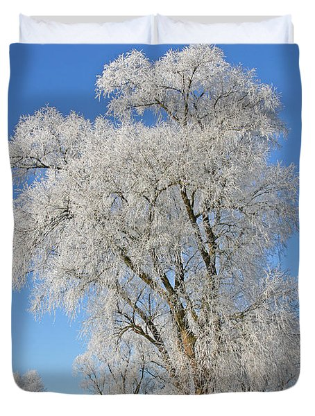 White Frost Tree Duvet Cover by Ralf Kaiser