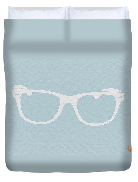 White Glasses Duvet Cover by Naxart Studio