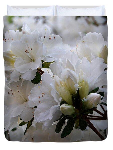 White On White Duvet Cover by Linda Mesibov