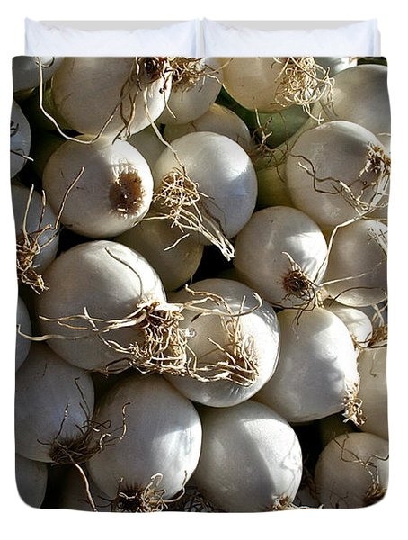 White Onions Duvet Cover by Susan Herber