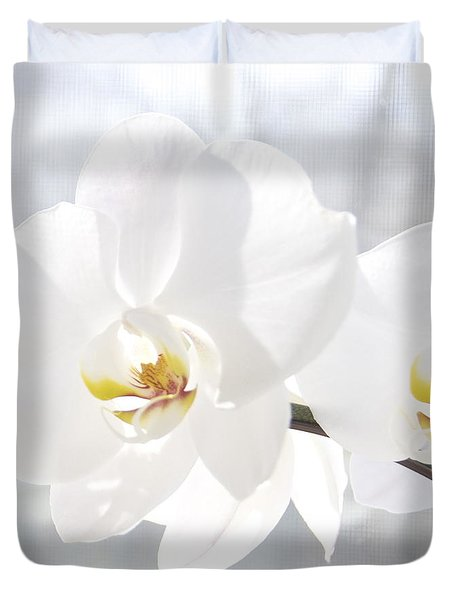 White Orchid Duvet Cover by Cindy Lee Longhini