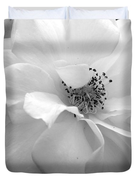 Duvet Cover featuring the photograph White Rose by Michelle Joseph-Long