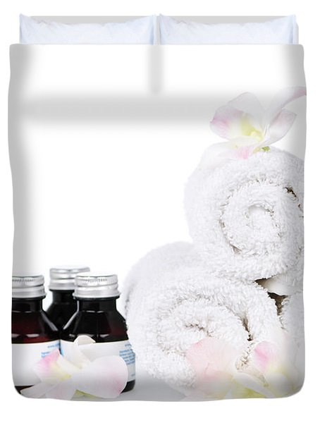 White Spa Duvet Cover by Elena Elisseeva
