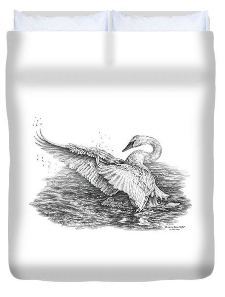 White Swan - Dreams Take Flight Duvet Cover