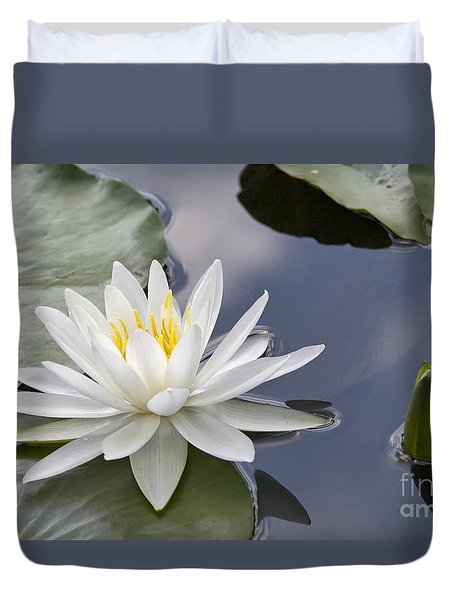 White Water Lily Duvet Cover by Vladimir Sidoropolev