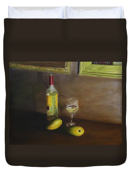 White Wine And Mangoes Duvet Cover