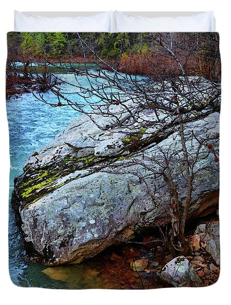 Duvet Cover featuring the photograph White's Creek by Paul Mashburn