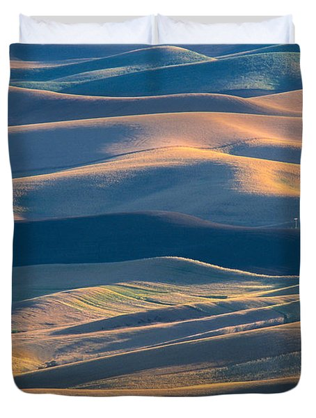 Whitman County Grain Silo Duvet Cover by Sandra Bronstein