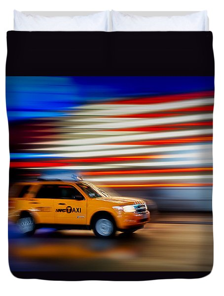 Whizzing Along Duvet Cover by Susan Candelario