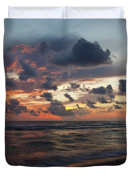 Wiggins Beach Summer Sunset. Duvet Cover