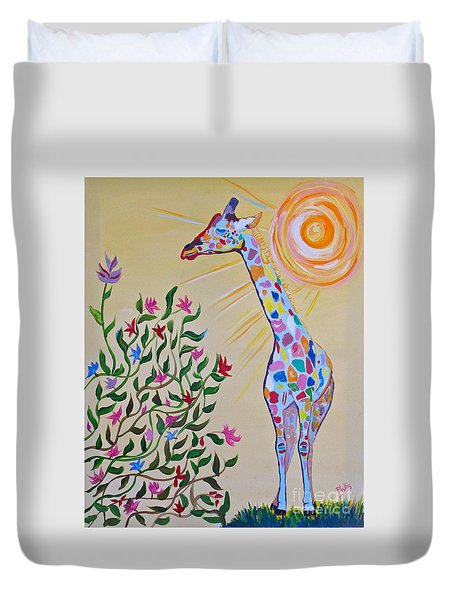 Wild And Crazy Giraffe Duvet Cover