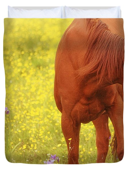 Wild As The Flowers Duvet Cover by Karol Livote