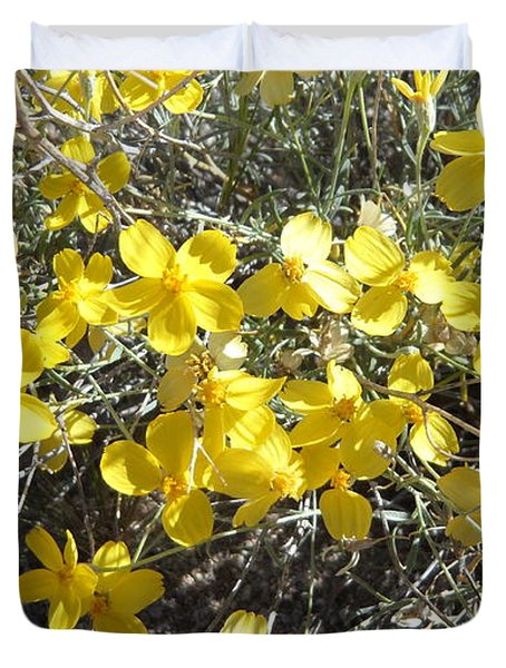 Wild Desert Flowers Duvet Cover by Kume Bryant