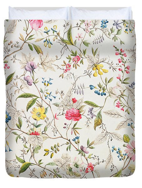 Wild Flowers Design For Silk Material Duvet Cover by William Kilburn