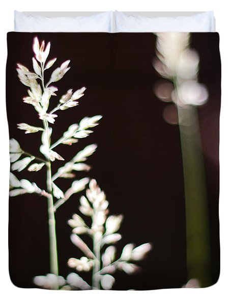 Duvet Cover featuring the photograph Wild Grass by Andy Prendy