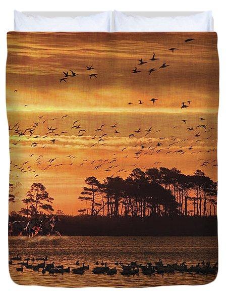 Wild Horses Duvet Cover by Lianne Schneider