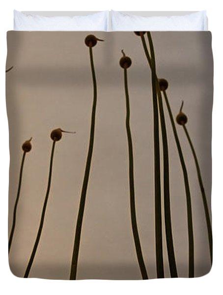 Wild Onions Duvet Cover by Stelios Kleanthous