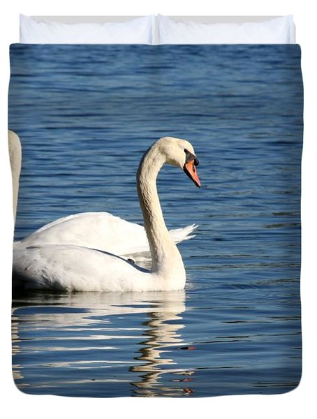 Wild Swans Duvet Cover by Sabrina L Ryan