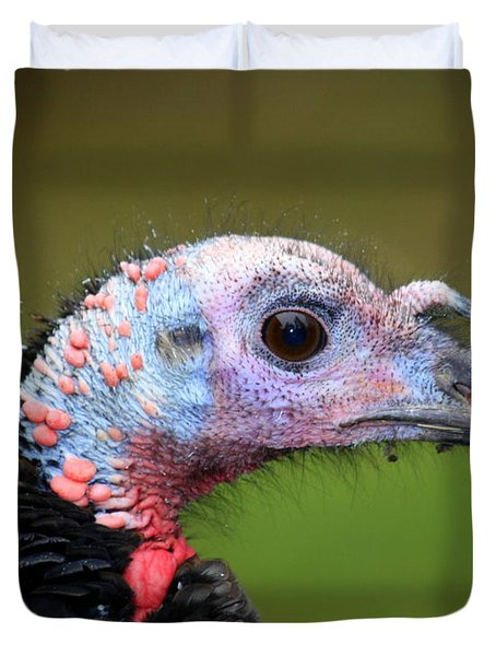 Duvet Cover featuring the photograph Wild Turkey by Patrick Witz