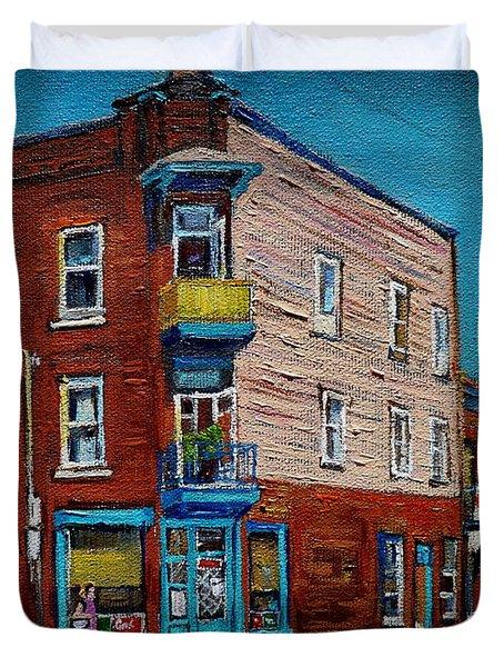 Wilensky's Light Lunch Plateau Montreal Duvet Cover by Carole Spandau