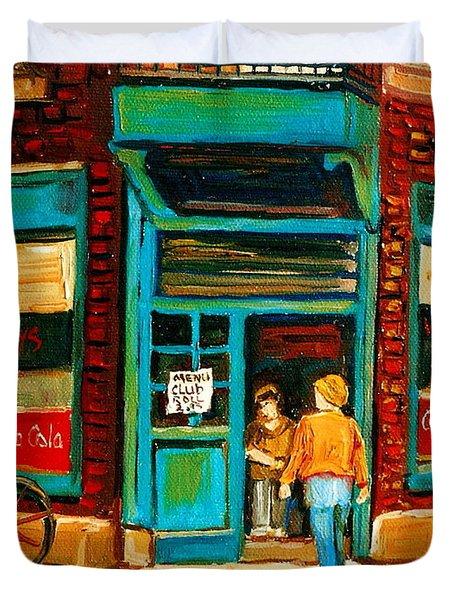 Wilensky's Restaurant Duvet Cover by Carole Spandau