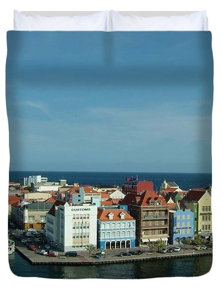 Willemstad Curacao Duvet Cover