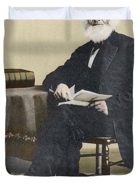 William Cullen Bryant, American Poet Duvet Cover by Science Source