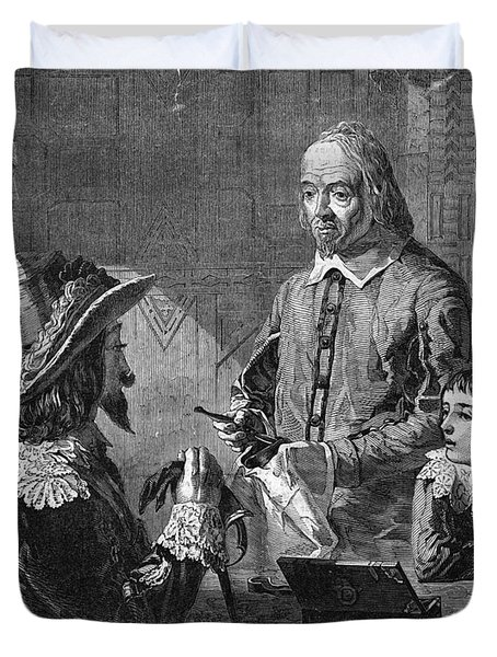 William Harvey, English Physician Duvet Cover by Photo Researchers