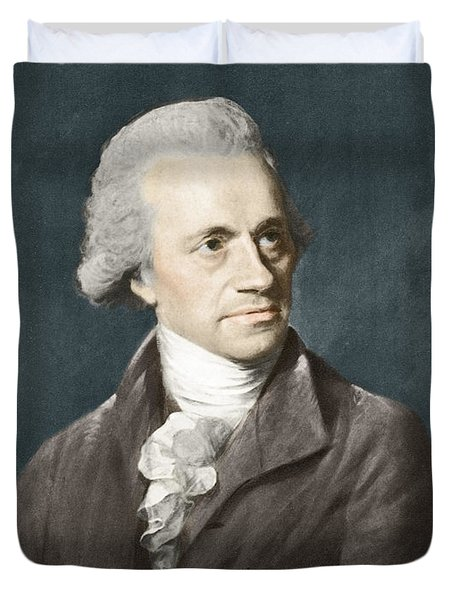 William Herschel, German Astronomer Duvet Cover by Science Source