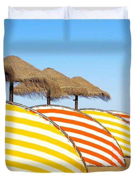Wind Shields Duvet Cover by Carlos Caetano