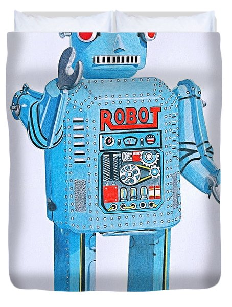 Wind-up Robot Duvet Cover