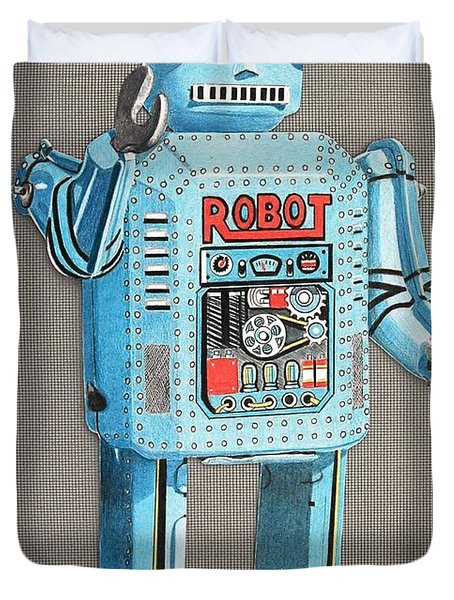 Wind-up Robot 2 Duvet Cover