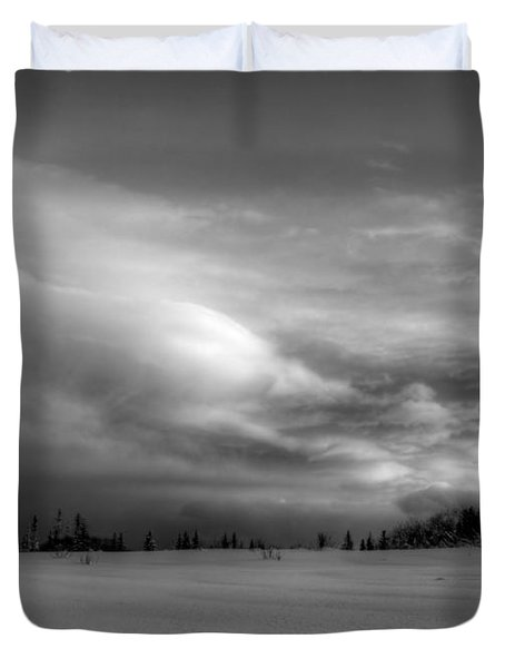 Duvet Cover featuring the photograph Windblown Cloud by Michele Cornelius
