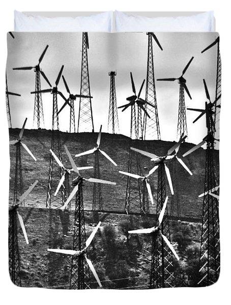 Windmills By Tehachapi  Duvet Cover by Susanne Van Hulst
