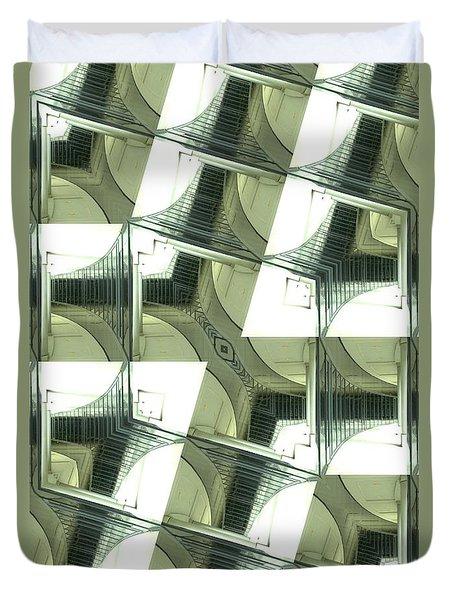 Window Mathematical  Duvet Cover