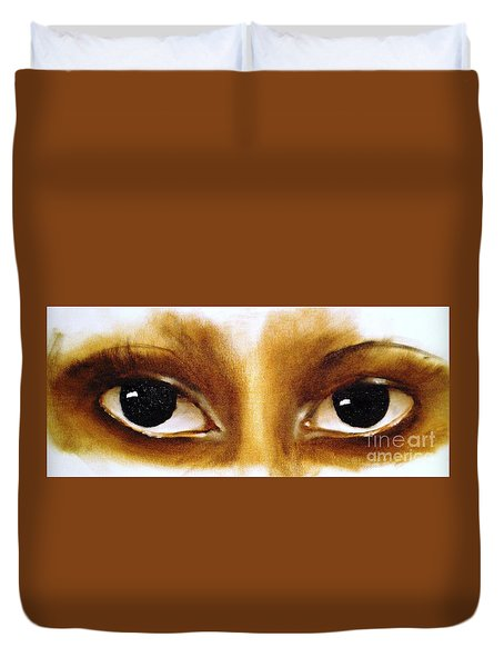 Window To The Soul Duvet Cover by Annemeet Hasidi- van der Leij