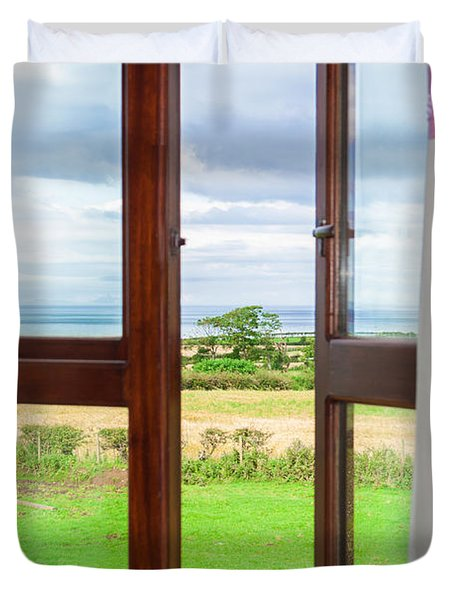 Window View Duvet Cover by Semmick Photo