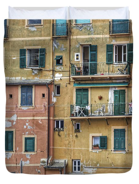 Windows Of Camogli Duvet Cover by Joana Kruse