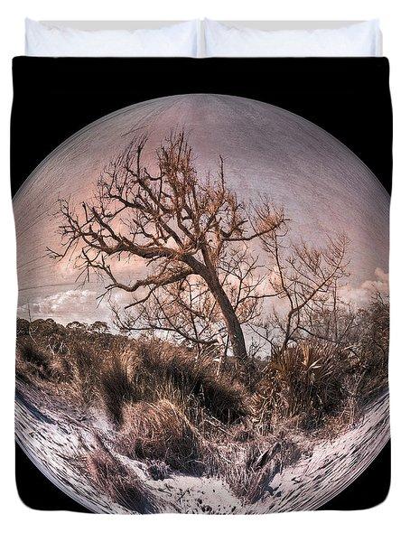 Windswept At Driftwood Beach II Duvet Cover by Debra and Dave Vanderlaan